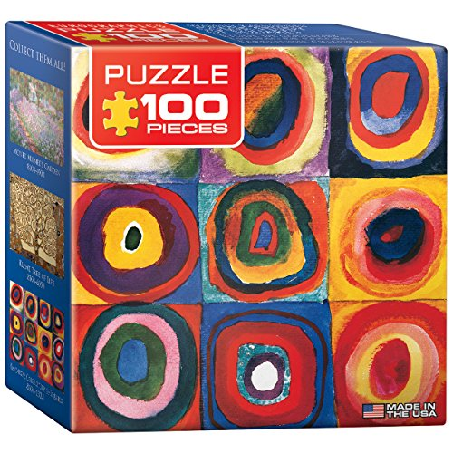 EuroGraphics Color Study of Squares by Wassily Kandinsky Mini Puzzle (100-Piece)