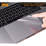 MacBook Pro 13 2018 2017 Skin, CASEBUY Clear Anti-Scratch Trackpad Protector Cover Newest MacBook Pro 13 inch Without Touch Bar(A1706/A1708/A1989, Release 2016/2017/2018) (Color: 13.3