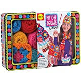 ALEX® Toys - Hip To Be Square Crochet Kit with 300-Yards of Yarn and Storage Tin, 83T