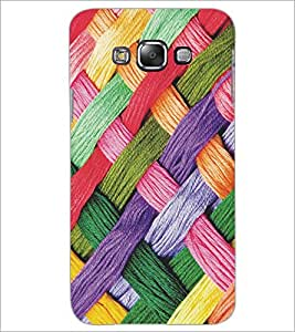 PrintDhaba Pattern D-5170 Back Case Cover for SAMSUNG GALAXY E7 (Multi-Coloured)