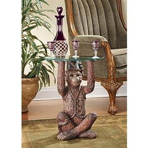 Design Toscano EU31691 Moroccan Monkey Business Sculptural Side Table