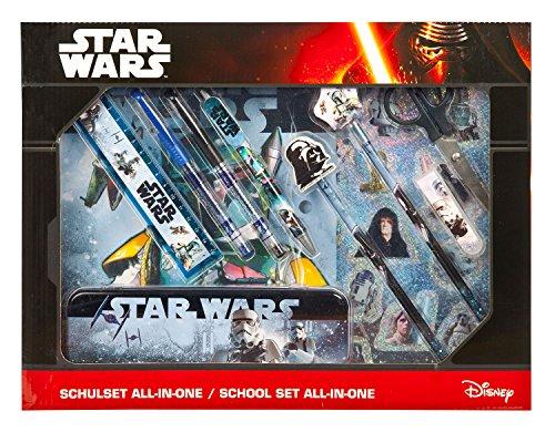 Undercover swhx1141-Set per la scuola All-in-One Star Wars, 14pezzi, colore: blu