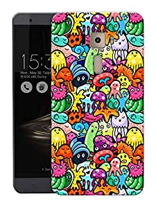 "Cute Doodle ArtPrinted Designer Mobile Back Cover For ""Asus Zenfone 3 Deluxe"" (3D, Matte, Premium Quality Snap On Case)"