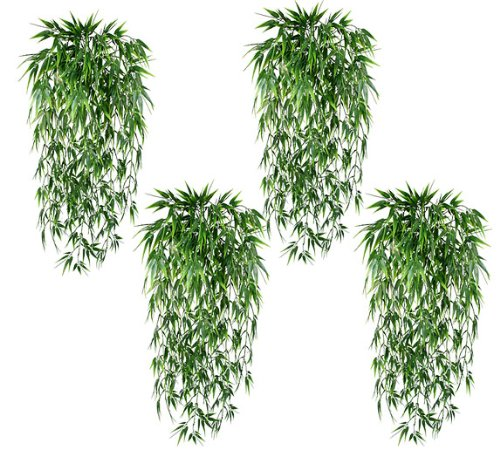 FOUR 29″ Artificial Bamboo Grass Hanging Bushes