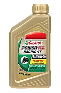 Roll over image to zoom in      Castrol 06112 Power1 10W-40 Synthetic 4T Motorcycle Oil - 1 Quart Bottle, (Pack of 6)