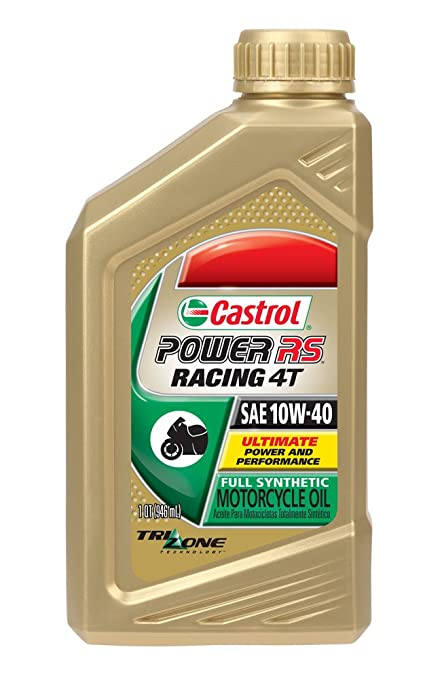 Castrol 06078 Power RS 10W-40 4-Stroke Motorcycle Oil - 1 Quart Bottle