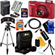 Canon PowerShot SX610 HS 20MP Wi-Fi Digital Camera with 18x Zoom & HD 1080p video, Red (International Version) + Battery & AC/DC Charger + 11pc 32GB Dlx Accessory Kit w/HeroFiber Cloth
