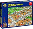 Jan van Haasteren - The Tennis Court 2000 Piece Jigsaw Puzzle