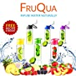 FRUQUA Fruit Infuser Water Bottle BPA Free, 700ML for Drinking with FREE Fruit Infused Recipe eBOOK, Leak Proof, made with TRITAN material , Flip Lid, available in 5 classic colours by Ayka Solutions. (Black FruQua)