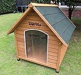 XL Sussex Hundehütte aus Holz mit entfernbarem Boden zur einfachen Reinigung