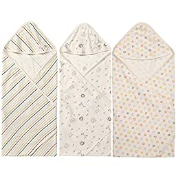 WithOrganic Baby St Organic Cotton Swaddle blanket, 3 Pack, Baby nursery-receiving