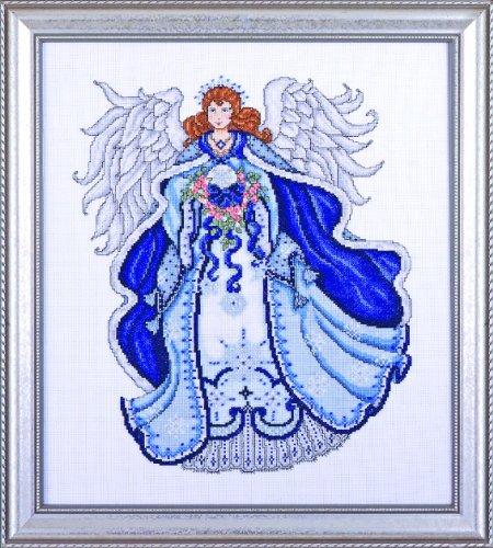 Ange bleu compté point de croix Kit-16