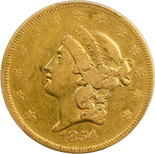 What is the value of 1854 twenty dollar gold coin ...