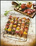 Shish Kabob Rack ~ Stainless Steel ~ Holds 6 Skewers (Included)