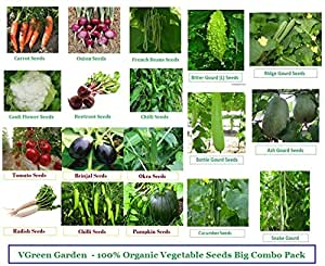 VGreen Garden Store VGreen Garden 100% Organic Seeds Combo Pack