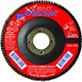SAIT 78005 Ovation Flap Disc, 4-1/2-Inch by 7/8-Inch, 36 Grit, 10-Pack
