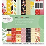 American Crafts Paper Pad, 6 by 6-Inch, Dear Lizzy Lucky Charm