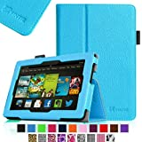 Fintie Slim Fit Folio Case with Auto Sleep/Wake Feature for 7 inch Amazon Kindle Fire HD - Blue