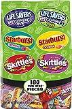 Skittles, Starburst, Lifesavers Gummies Stand Up Bag, 180 Count