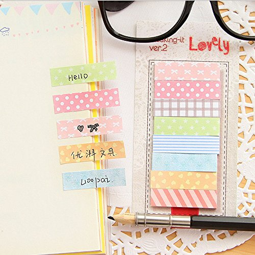 seguryy 160 Pages Sticker Bookmark Point It Marker Memo Paste Flags Sticky Notes