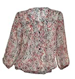 Leo & Nicole Sheer 3/4 Sleeve Peasant Blouse