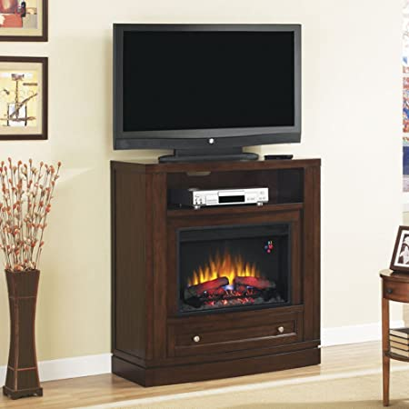"ClassicFlame 26DE6439-C247 Wesleyan Wall or Corner TV Stand for TVs up to 47"",  Meridian Cherry (Electric Fireplace Insert sold separately)"
