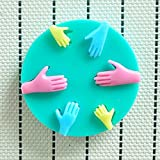 Allforhome 6 Cavity Human Hand Shaped 3d Silicone Cake Fondant Mold Cake Decoration Tools Soap Candle Moulds