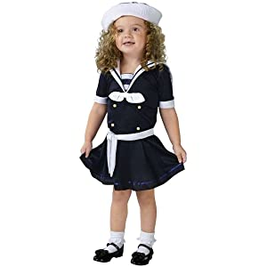 4129dd1e80654 Toddler Sea Sweetie Girls Sailor Halloween Costume Sc 1 St My Baby Costumes