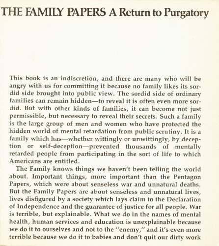 The family papers: A return to purgatory [Paperback] by Blatt, Burton