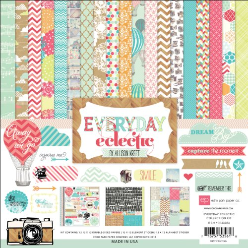 Echo Park Paper Everyday Eclectic Collection Scrapbooking Kit Picture