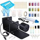Sntieecr Epoxy Glitter Tumbler Turner Kits with Tumbler Turner Machine, 12 PCS Glitter Powder, Bubble Buster Tool Heat Gun, Silicone Brushes and 34 PCS Epoxy Resin Tools for DIY Craft Glitter Tumblers