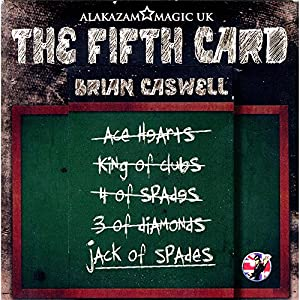 MMS The Fifth Card (DVD and Gimmicks) by Brian Caswell and Alakazam Magic - Trick