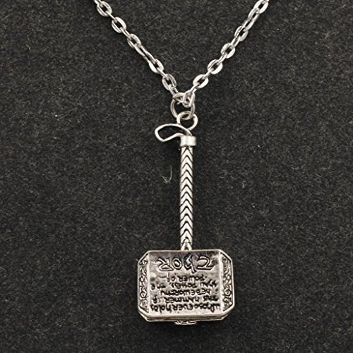 Marvel Comics Thor'S Hammer Pendant Silver Color Necklace