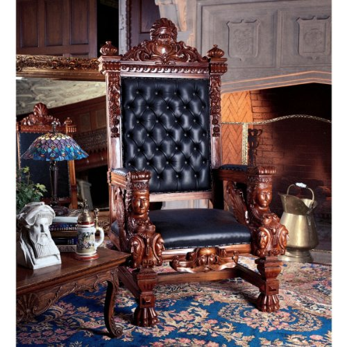 design-toscano-the-fitzjames-throne-leather-arm-chair