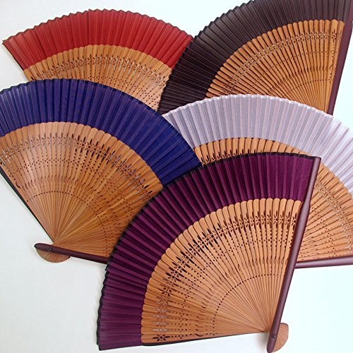 [Edo-Japan Traditional Crafts] Silk Sensu dyed in the traditional colors of Japan (Red brown)