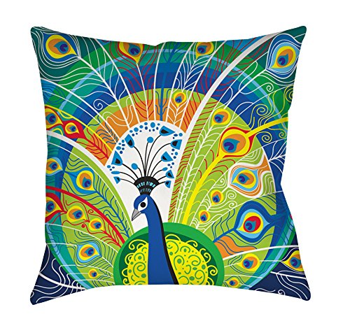 Peacock Print Bedding 3662 front