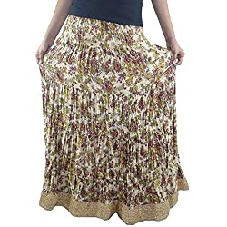 ShopMore Full Skirt(Multi-Color_Free-Size)