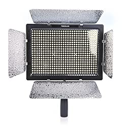 Yongnuo YN-600 LED Studio Video Light Lamp With Adapter for Canon Nikon DSLR Camera Camcorder 3200K-5500K Dual Color Temperature