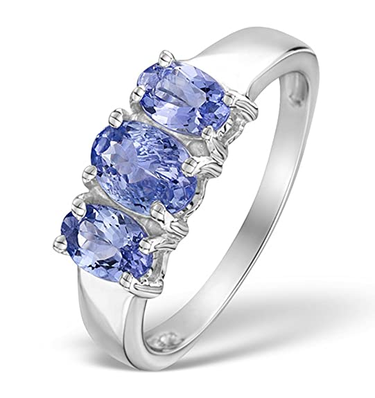 TheDiamondStore | Stunning Ring - Oval Tanzanite - 925 Sterling Silver