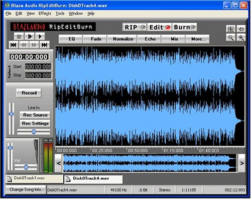 RipEditBurn-Wave and MP3 Sound Recorder & Editor - Vista and Windows 7-compatible - Record Anything You Can Plug into Your Computer - Make CDs & iPod Files - Convert Records to Digital Format - Remove Vocals - Edit with Full Effects Toolbox - Online Tutorials & Support - Easy to Use