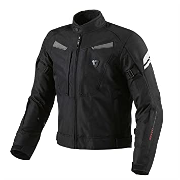 FJT154 1170-XL - Rev It Excalibur Motorcycle Jacket XL Black-Silver
