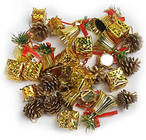 R-STYLE 派手派手に装飾 クリスマス ツリー 飾り ゴールド オーナメント 32個 セット (32個セット)