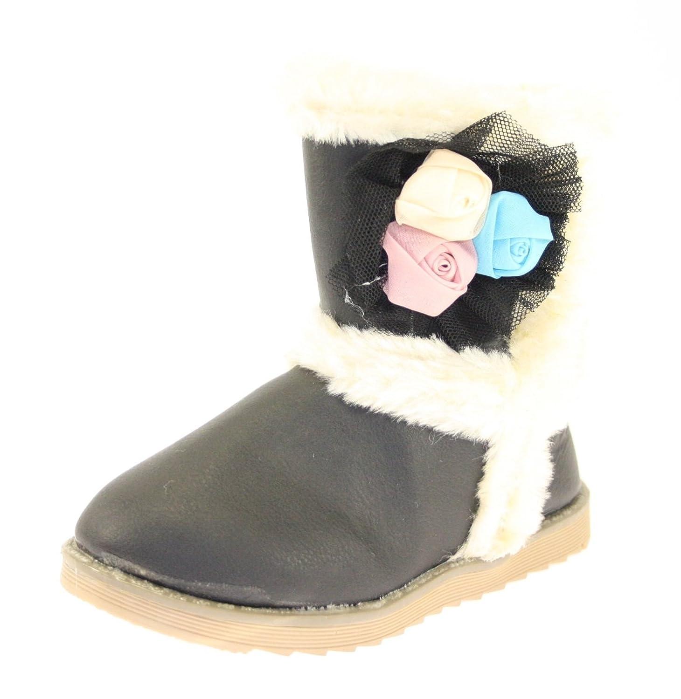Winterstiefel KIDS Farbe Schwarz gefüttert mit seitlichem Klettverschluss online bestellen