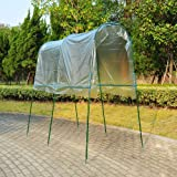 Transparent Vaulted Greenhouse Grow House Grow Bag Garden Patio Tomato Vegetables Propagation 200x120x200cm