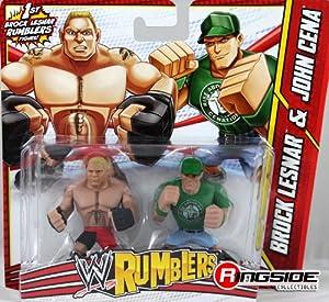 BROCK LESNAR & JOHN CENA - WWE RUMBLERS TOY WRESTLING ACTION FIGURES