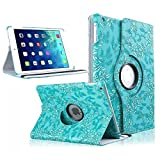 iPad Air 2 Case, TabPow [360 Degrees][Flip][Smart Case] PU Leather Flip Case [Magnetic Closure] Smart Cover With Stand [Auto Sleep/Wake] For Apple iPad Air 2/ iPad 6th Generation, Grapevine Turquoise