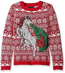 Blizzard Bay Big Boys' Glitter Vomit Unicorn, Red/White, Medium