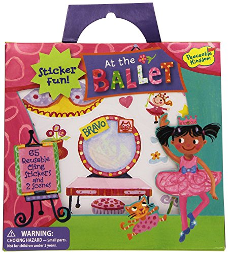 Peaceable Kingdom Sticker Fun! At the Ballet Reusable Sticker Tote