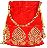 #3: Bombay Haat Ethnic Rajasthani Potli Bag /Party Clutch / Bridal Clutch ( Red )