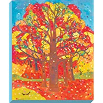 Oopsy daisy Autumn Blossom Stretched Canvas Wall Art by Caroline Blum 36 by 44-Inch